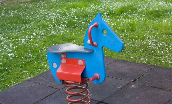Rocking horse in the park
