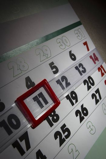 Page is marked with a date calendar