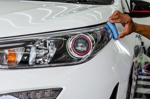 Car details - car glass coating.