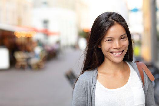 Asian woman candid portrait