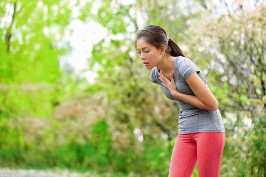 Nausea - nauseous and sick ill runner vomiting
