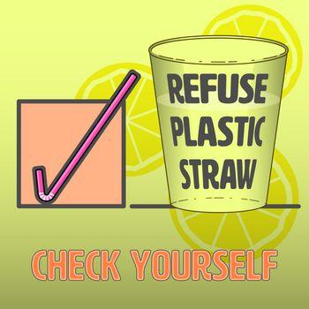 Check Mark Refuse Straw 1