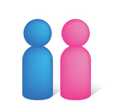 man and woman / couple pictogram icon