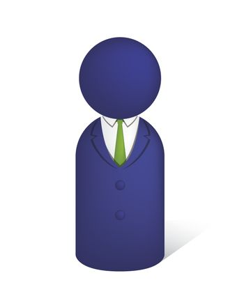 office worker / business person pictogram icon