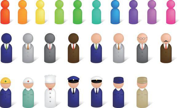 Worker pictogram icon illustration set