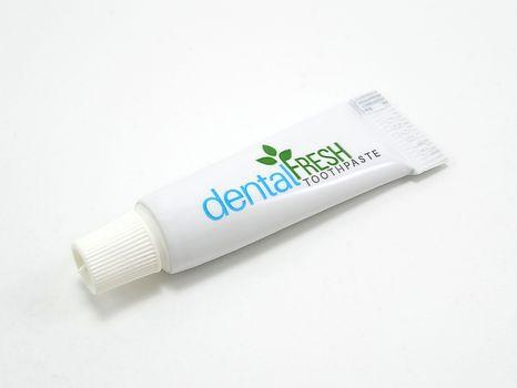 MANILA, PH - JUNE 23 - Dental fresh toothpaste tube on June 23, 2020 in Manila, Philippines.