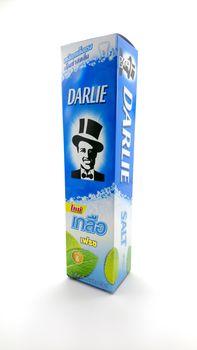 MANILA, PH - JUNE 23 - Darlie salt toothpaste on June 23, 2020 in Manila, Philippines.
