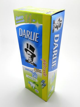 MANILA, PH - JUNE 23 - Darlie all shiny white lemon mint toothpaste on June 23, 2020 in Manila, Philippines.