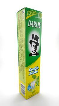 MANILA, PH - JUNE 23 - Darlie mint original strong toothpaste on June 23, 2020 in Manila, Philippines.