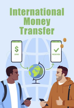 International money transfer poster template
