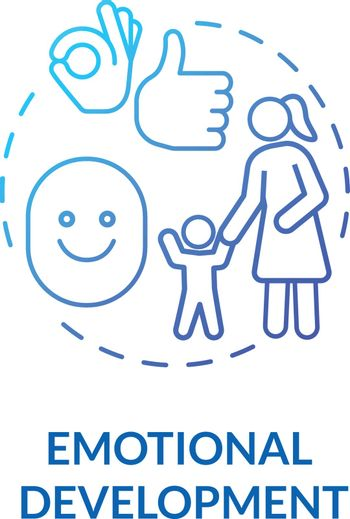 Toddlers emotional development concept icon. Childhood and parenthood. Childcare. Preschooler social interactions idea thin line illustration. Vector isolated outline RGB color drawing
