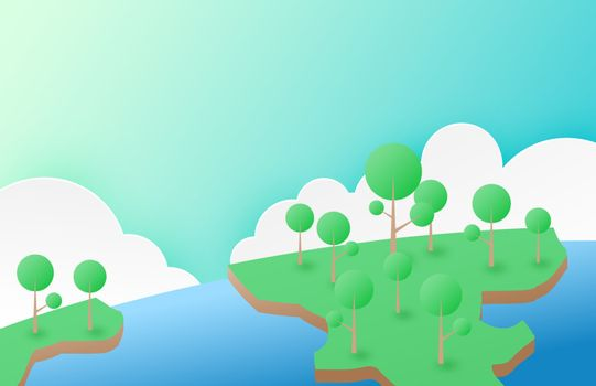 Nature and environment conservation concept background in minima