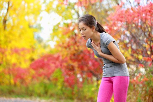 Running nausea - nauseous and sick ill runner
