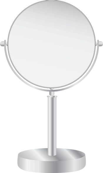 Desktop two-sided rotating mirror with a circular surface