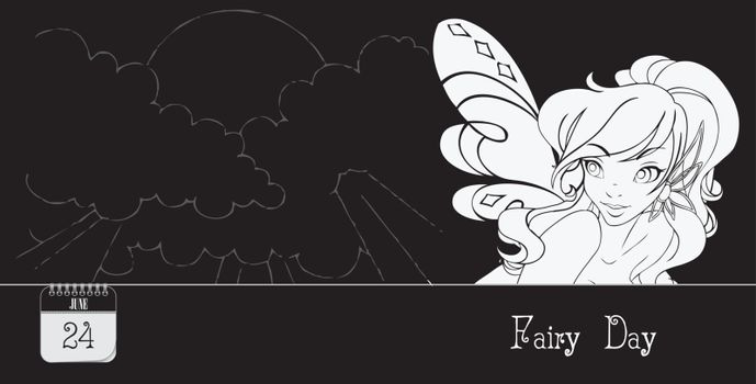 Post card for event june day Fairy Day