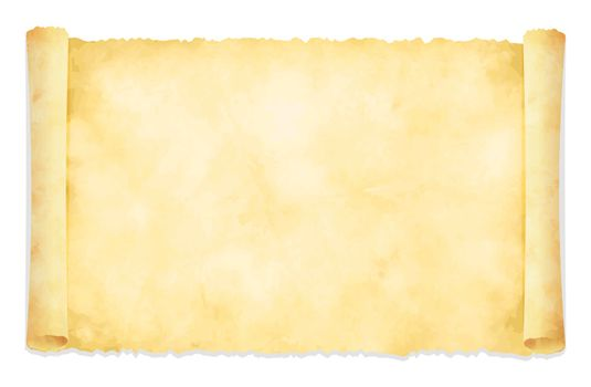 Tattered old paper illustration (curled edge)