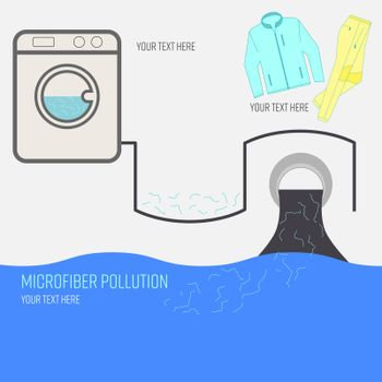 Microfiber Pollution Text Background