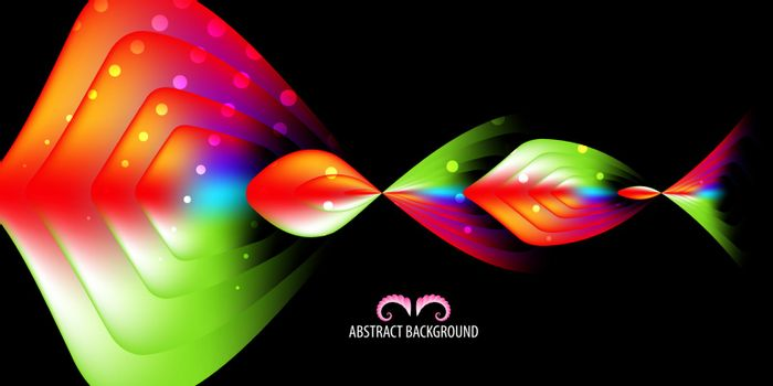 Abstract colorful background creative graphics template with blended multiple geometric shapes
