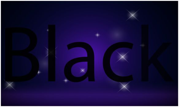 text black written on abstract stars backgrounds