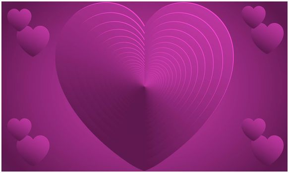 Abstract Design of heart on valentine backgrounds