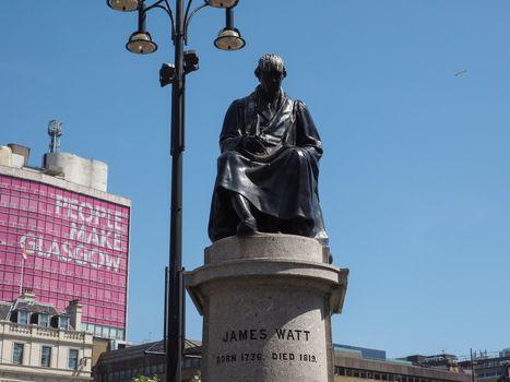 Watt monument in Glasgow