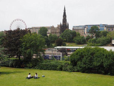 The Mound hill in Edinburgh