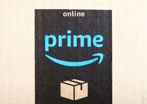 SEATTLE - AUG 2019: Amazon prime sign