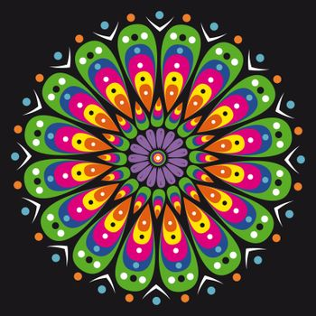 Beautiful colorful vector mandala creative graphic design