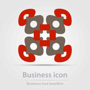 Originally created color abstract business icon for creative design tasks