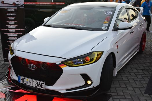 Hyundai accent at Bumper to Bumper car show in Pasay, Philippine