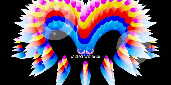 Abstract colorful background graphics template with blended multiple abstract shapes