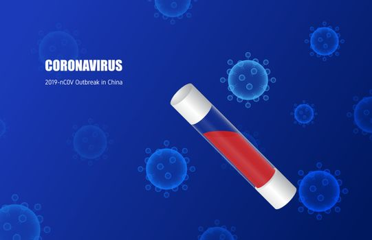 Coronavirus (2019-nC0V) in virus tube. Outbreak in China and spr