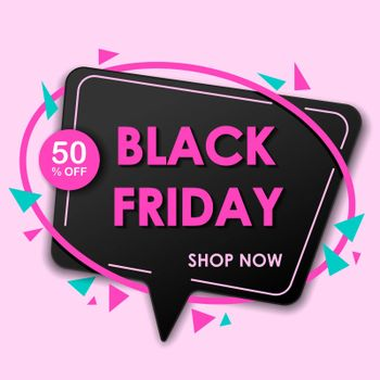 Black friday sale banner. Sale and discounts. Vector illustration.