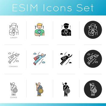 Human feelings icons set
