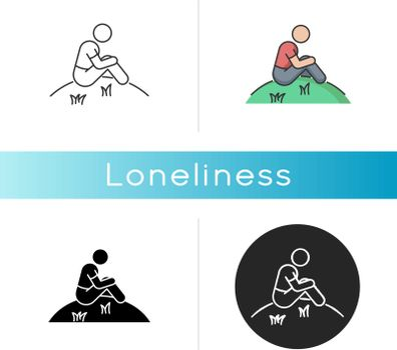 Loneliness icon