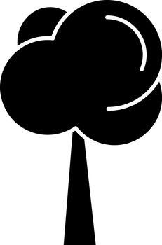 Tree black glyph icon