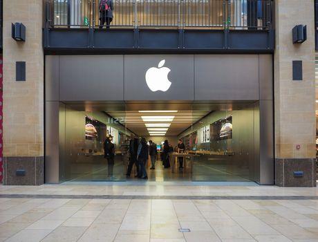 Apple store at Grand Arcade shopping centre in Cambridge