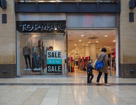 Topman shop at Grand Arcade shopping centre in Cambridge