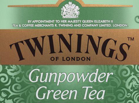 LONDON - DEC 2019: Twinings Gunpowder Green Tea