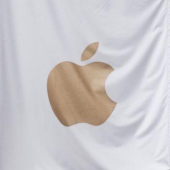LONDON, UK - CIRCA SEPTEMBER 2019: Apple sign
