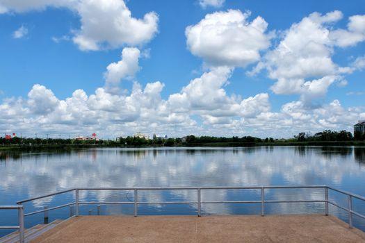 Big cloud in blue sky