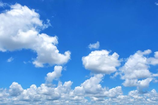 Cloud with blue sky close up and detail