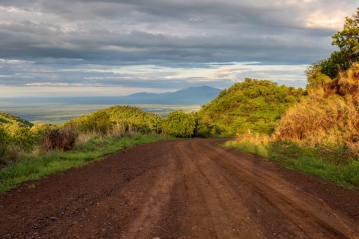 road to Mago National Park in Omo Valley, Omorati Etiopia, Africa nature landscape and wilderness