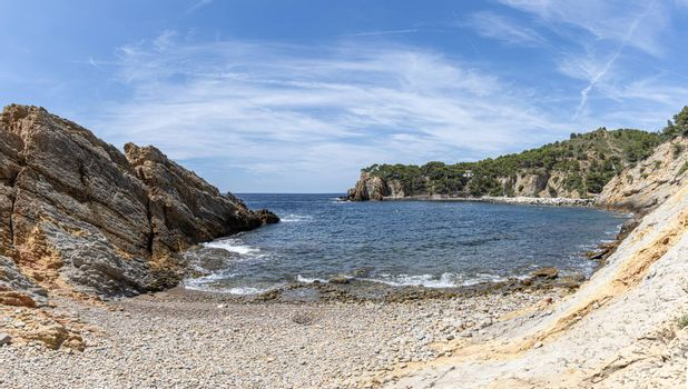 pebble beach of Calanques of Figuieres, France
