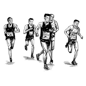 Drawing of the running competition
