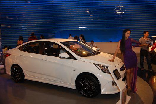 Hyundai accent at 8th Manila International Auto Show in Pasay, P