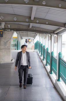 Businessman traveler journey business travel.