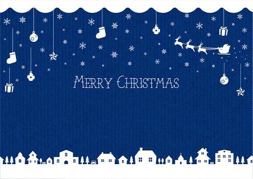 christmas background vector illustration (knit pattern)