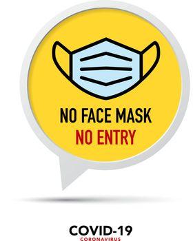 No face mask No entry sign.