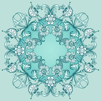 Vector abstract decorative floral ethnic ornamental illustration.